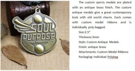 Custom Sports Medals for Team Friendship