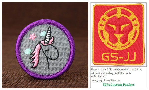 50% Embroidered Patches