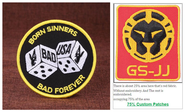 75% Embroidered Patches