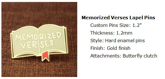 Memorized Verses Lapel Pins