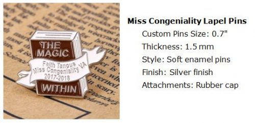 Miss Congeniality Lapel Pins