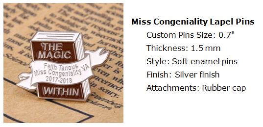 Miss Congeniality Lapel Pins