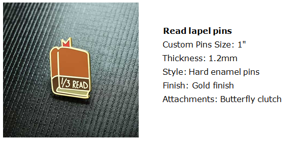 Read lapel pins