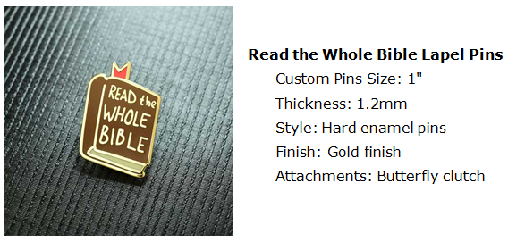 Read the Whole Bible lapel pins