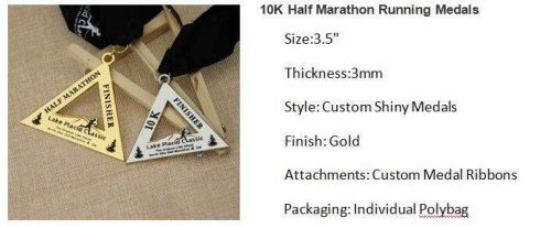 0K Half Marathon Running Medals