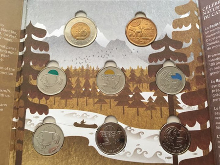 Parks Canada Centennial Commemorative Circulation Coins