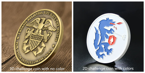 2D and 3D challenge coins__color fill