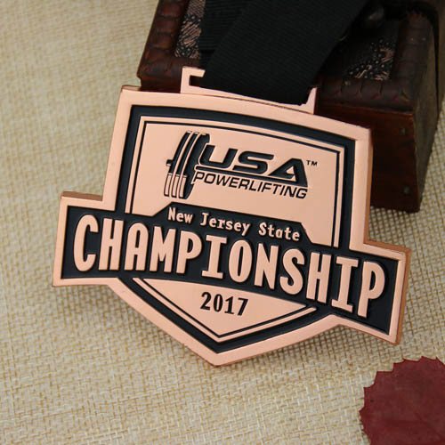 Powerlifting Championship Custom Medals