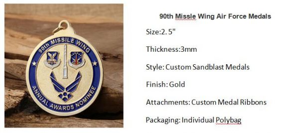 90th Missle Wing Air Force Medals