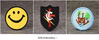 50% Cusotm Patches