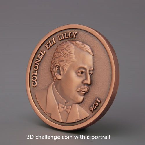 Colonel Eli Lilly Personalized Coins_portrait