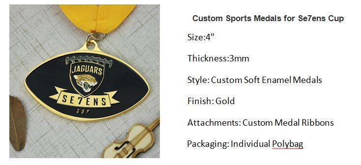 Custom Sports Medals for Se7ens Cup