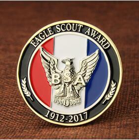 Eagle Scout Award custom coins