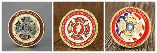 Firefighter challenge coins made by GS-JJ