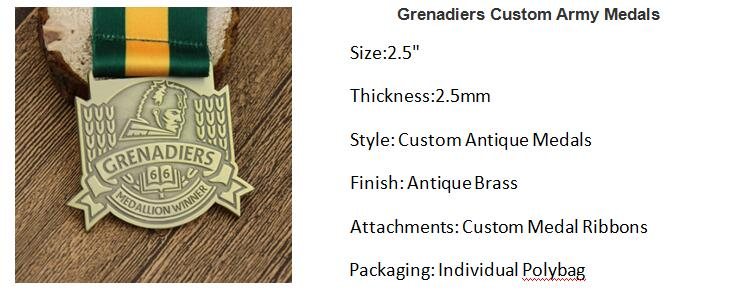 Grenadiers Custom Army Medals
