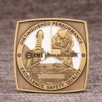 Square challenge coin