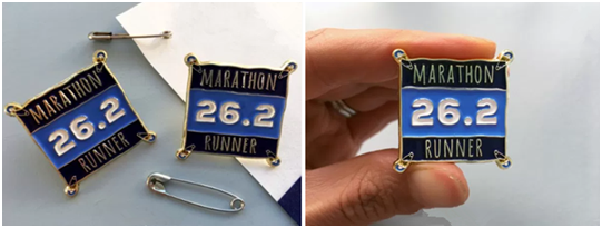 Marathon Custom Lapel Pins
