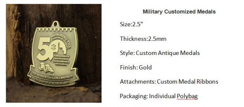 Military Customized Medals
