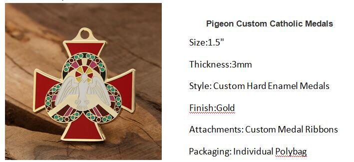 Pigeon Custom Catholic Medals