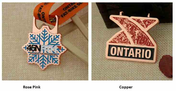 Rose Pink and Copper Medals