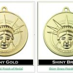 Shiny Gold and Shiny Brass Medals