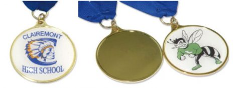 Stock-Shaped insert Medals