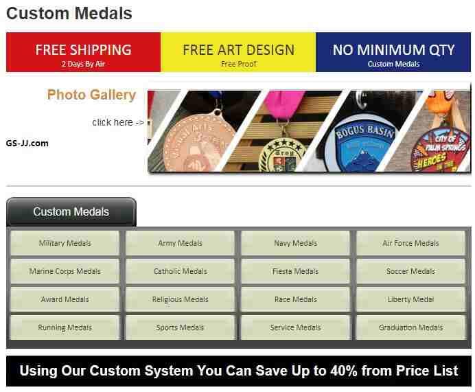 Types of Custom Medals