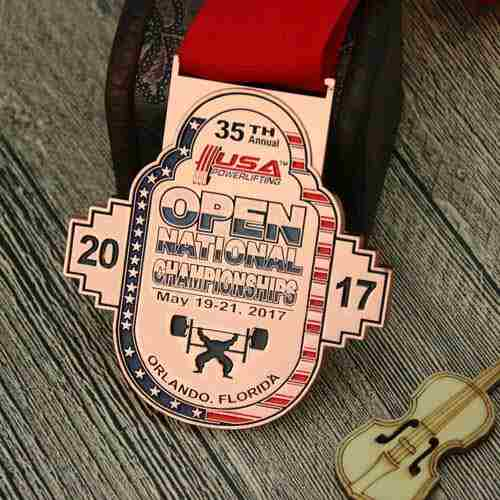 USA Powerlifting Match Customized Medals