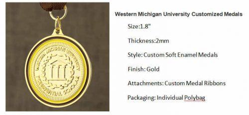Western Michigan University Customized Medals