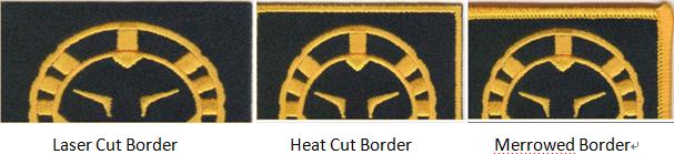 custom patches border options