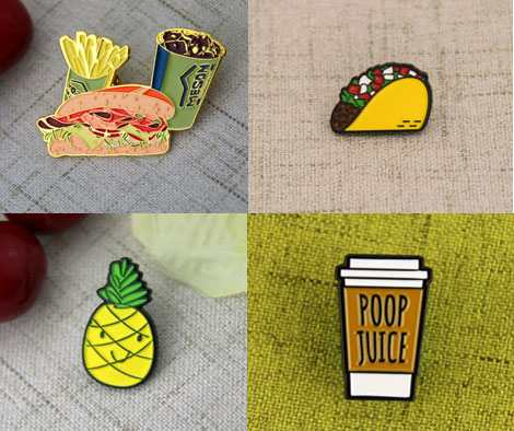 food lapel pins