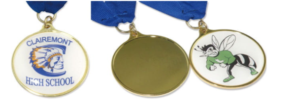 stock shaped medals