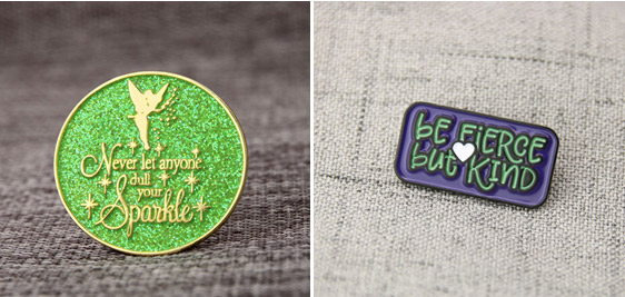 motto custom lapel pins
