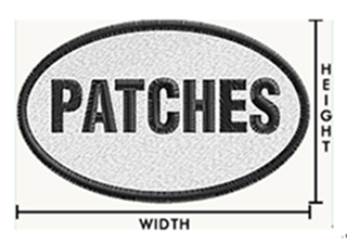 custom patches size