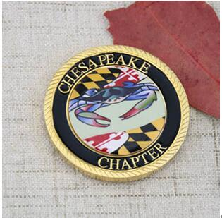 ASMC Custom Challenge Coins with paper sticker
