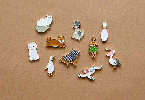 Carton series custom enamel pins