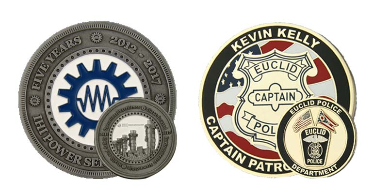 Dual-sided challenge coin