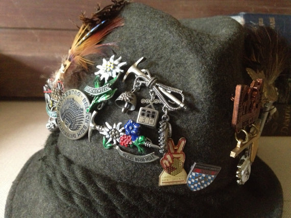 Hat with lapel pins