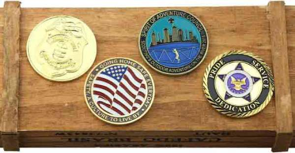 Memorial challenge coins