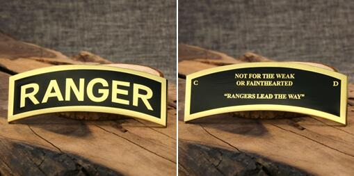 Ranger tab challenge coins