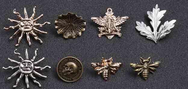 Retro 3D or cutout series lapel pins