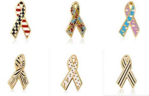 Ribbon series soft enamel pins