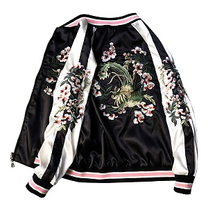 embroidered patches jacket
