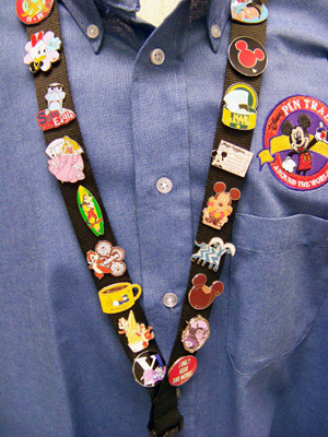 lapel pins on lanyard
