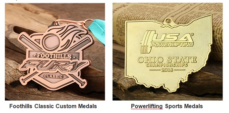 Custom Medals Samples