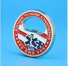 EMS challenge coin bottle opener