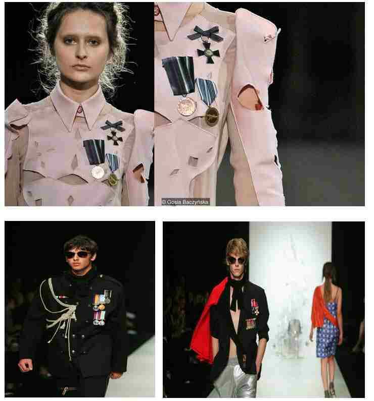 Fashion Medals on Cloth