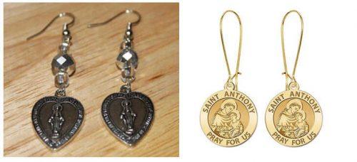 Fashion Medals on Ear Earrings