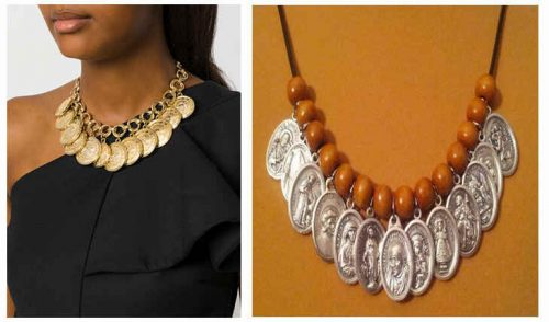 Fashion Medals on Neck Necklace