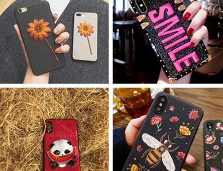 Embroidered patches phone case